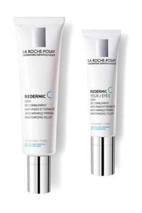 La Roche Posay Redermic Pnm Yüz Kremi 40 ml  Redermic C Yeux Göz Kremi 15 ml | Normal Karma Cilt Anti Aging