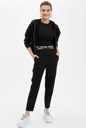 DeFacto Kadın Siyah Carrot Fit Dokuma Pantolon R2364AZ.20SP.BK27