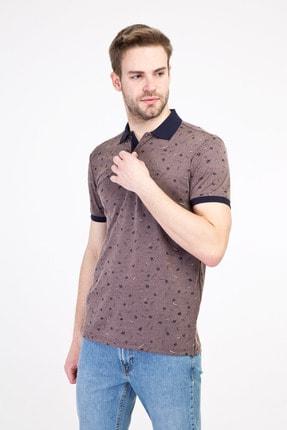 Kiğılı Erkek Orta Kahve Polo Yaka Regular Fit Merserize Tişört