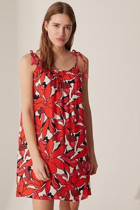 LC Waikiki Kadın Kırmızı Baskılı Elbise 0S1911Z8