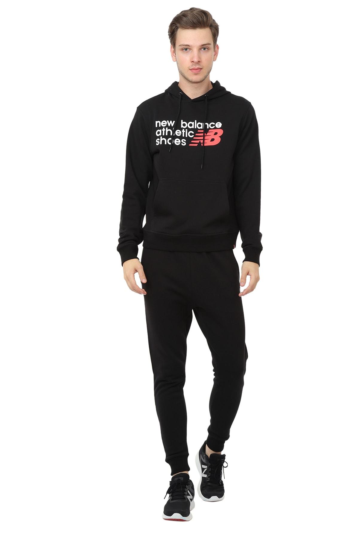 New Balance Erkek Sweatshirt - M-BK - MPS022