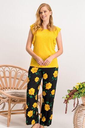 Arnetta Carnation Sarı Kadın Pijama Takımı