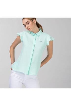 Lacoste Kadın Kolsuz Açık Yeşil Gömlek CF0111