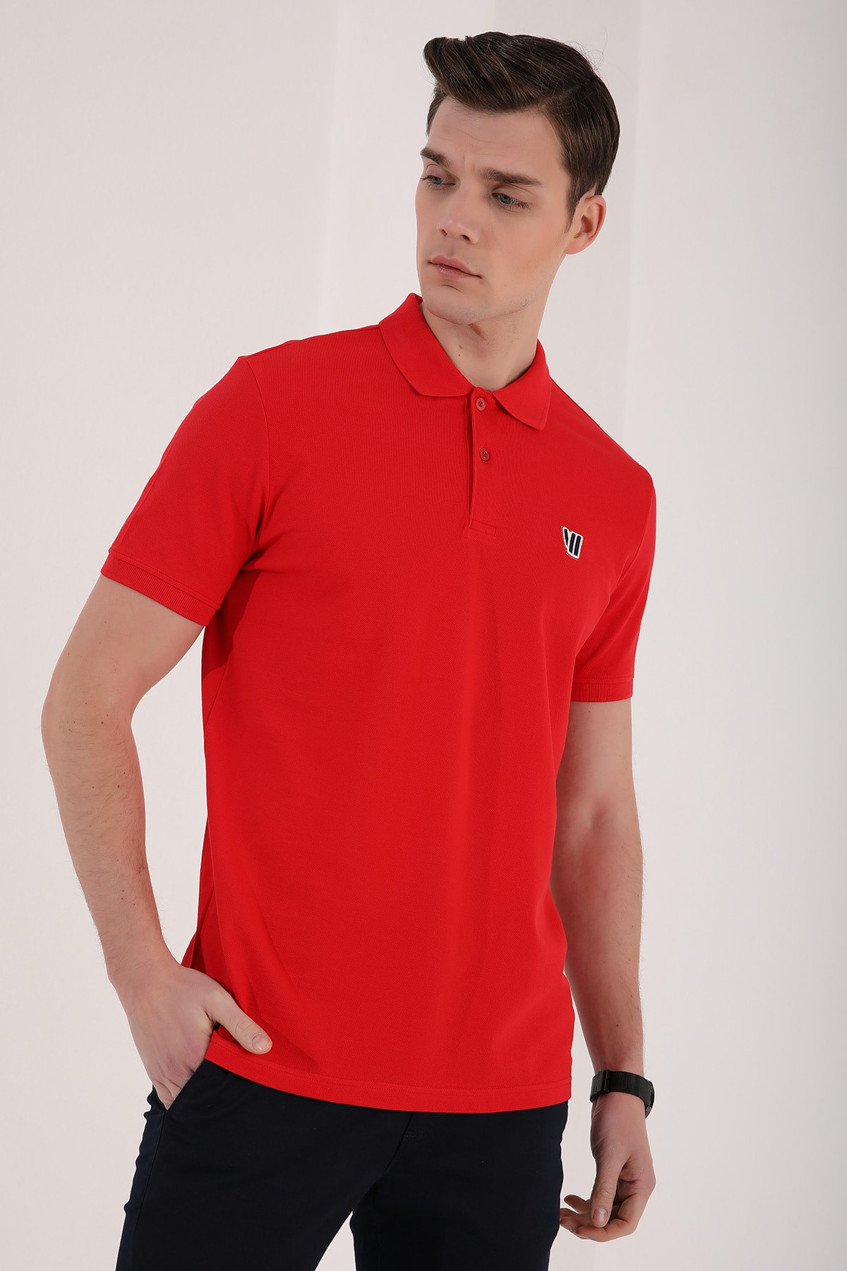 Tommy Life Klasik Polo Yaka Kırmızı Erkek Tshirt T08ER-87768 2