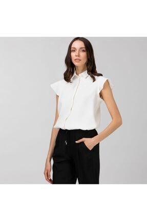 Lacoste Kadın Kolsuz Beyaz Gömlek CF0111