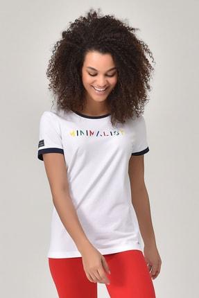 bilcee Beyaz Kadın T-shirt  GS-8070