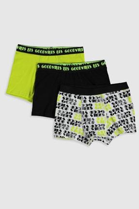 LC Waikiki Erkek Çocuk Beyaz Baskılı Lu7 Boxer