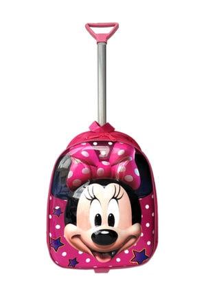 redpoloshop Anaokulu Çekçekli Sırt Çantası Mini 3-6 Yaş 5d Minnie Mouse