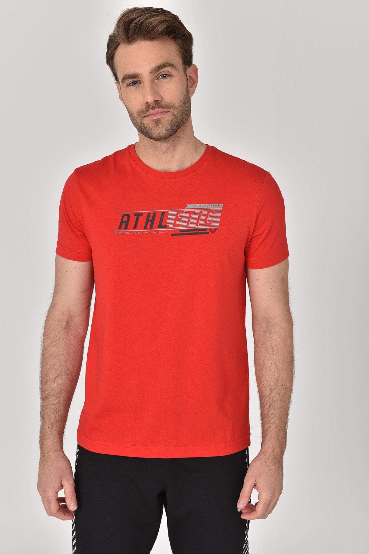 bilcee Kırmızı Erkek T-shirt  GS-8812 1