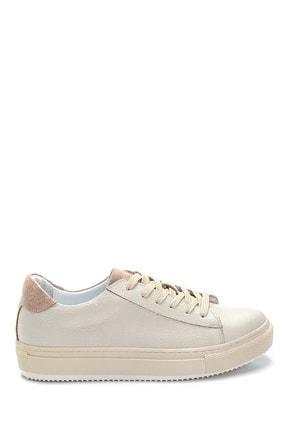 Derimod Kadın Bej Deri Sneaker