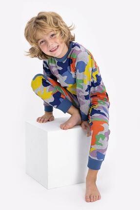 ROLY POLY Rolypoly Colorful Soldier Pattern Grimelanj Genç Unisex Uzun Kol Pijama Takımı