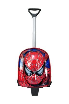 redpoloshop Anaokulu Çekçekli Sırt Çantası Mini 3-6 Yaş 5d Model Spiderman