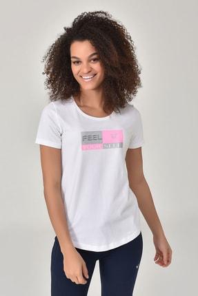 bilcee Beyaz Kadın T-shirt  GS-8614