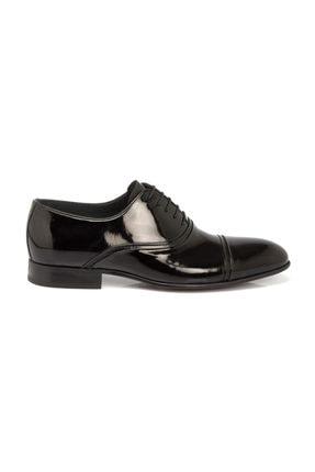 Tergan Hakiki Deri Siyah Rugan Deri Erkek Ayakkabı-54286A07