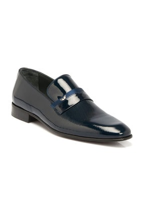 Tergan Lacivert Deri Erkek Ayakkabı