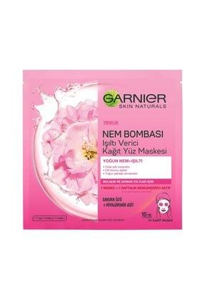 Garnier Nem Bombası Işıltı Verici Kağıt Yüz Maskesi