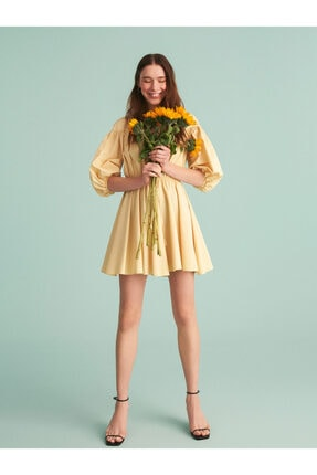 Nocturne Balon Kol Mini Elbise