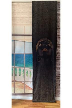 Nebumu Afrikalı Kadın Temalı  Japon Fon Perde 60 cm