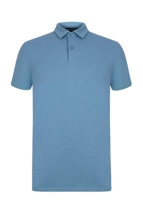 Mudo Erkek Mavi Polo Yaka Pamuk T-Shirt 372286