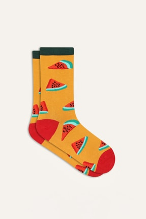 Mudo Kadın Multi Renk Desenli Pamuklu Çorap 369679