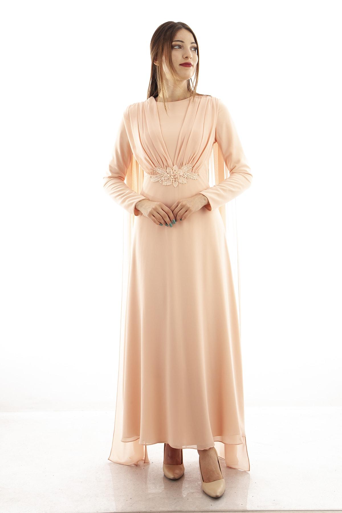 Ardanewline Kadın Pudra Abiye & Mezuniyet Elbisesi 1024200-10