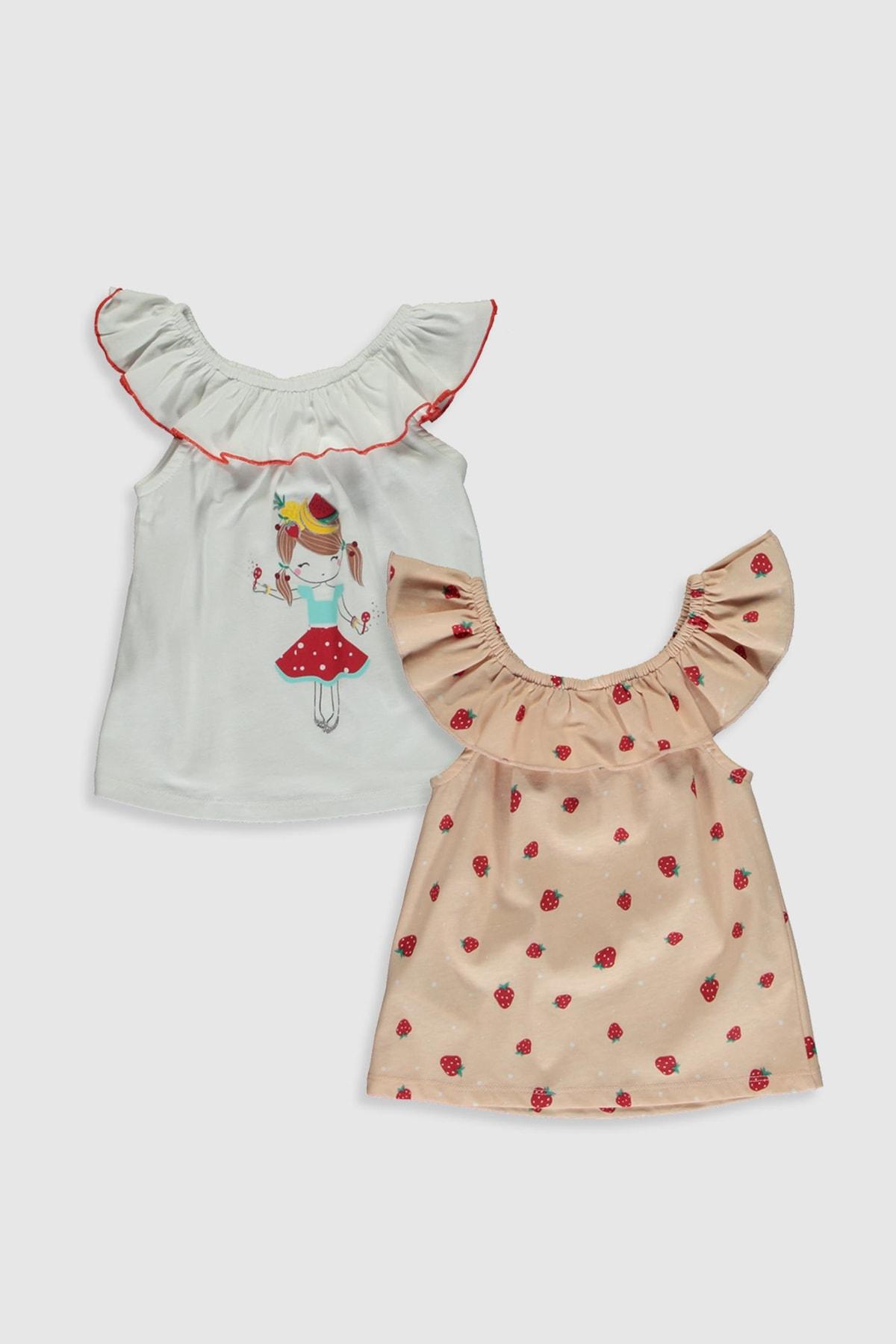 LC Waikiki Kız Bebek Pembe Baskılı Lt4 Bluz 1