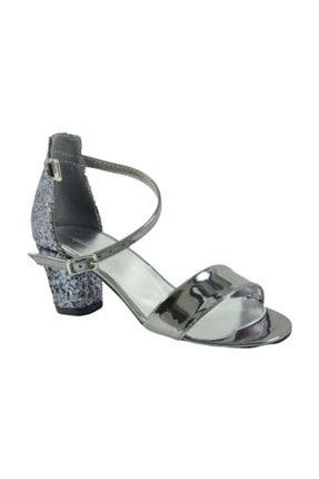 Pandora Filet Abiye Sandalet - 802.a.058  - Gümüş - 34