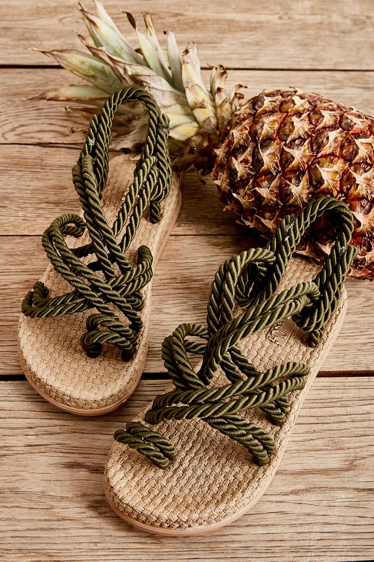 Bambi Haki Kadın Sandalet H05780101 1