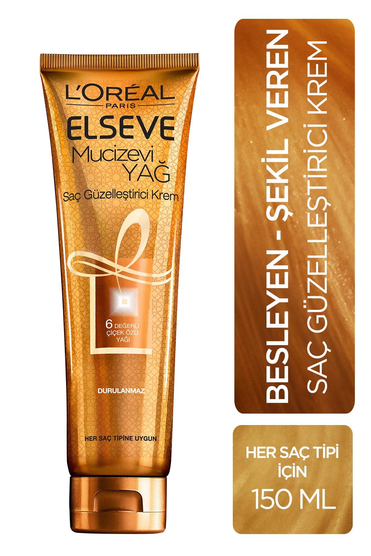 ELSEVE Mucizevi Yağ Saç Güzelleştirici Krem 150 ml 1
