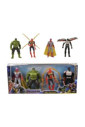 Can Ali Toys Avengers Endgame Işıklı 4'lü Figür Set- Vision, Hulk, Spiderman Ve Falcon