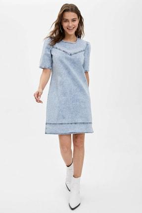 DeFacto Kadın Mavi Regular Fit Jean Elbise N2269AZ.20SP.NM39