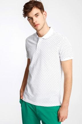 Ltb Erkek  Beyaz Polo Yaka T-Shirt 012208452960890000