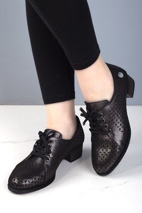 Mammamia D20ya-3515 Kadın Hakiki Deri Ayakkabı Platin