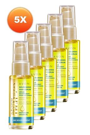 AVON Fas Argan Yağı Besleyici Saç Serumu 30 ml 5'li Set 5050000108355
