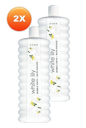 AVON White Lily Zambak Banyo Köpüğü 500 ml - 2'li Set 5050000106498