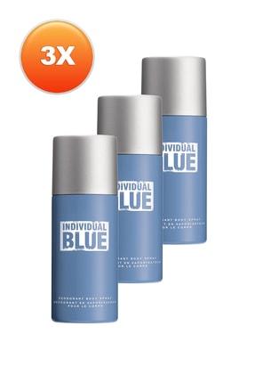 AVON Individual Blue Erkek Deodorant 3'lü Set 5050000101226
