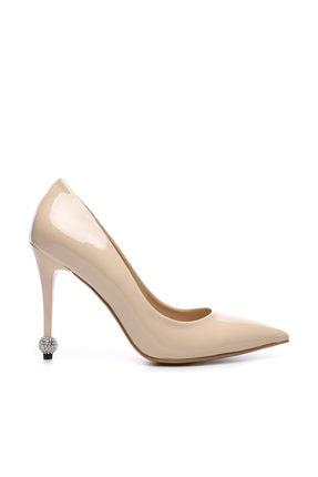 KEMAL TANCA Bej Kadın Vegan Stiletto Ayakkabı 22 6139 BN AYK Y19