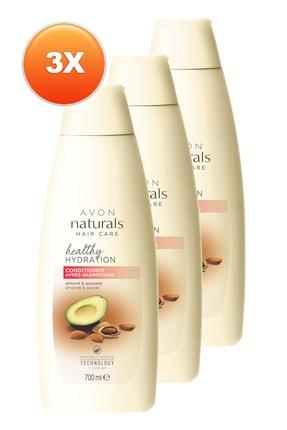 AVON Naturals Badem ve Avokado Yağı İçeren Saç Kremi 700ml - 3'lü Paket