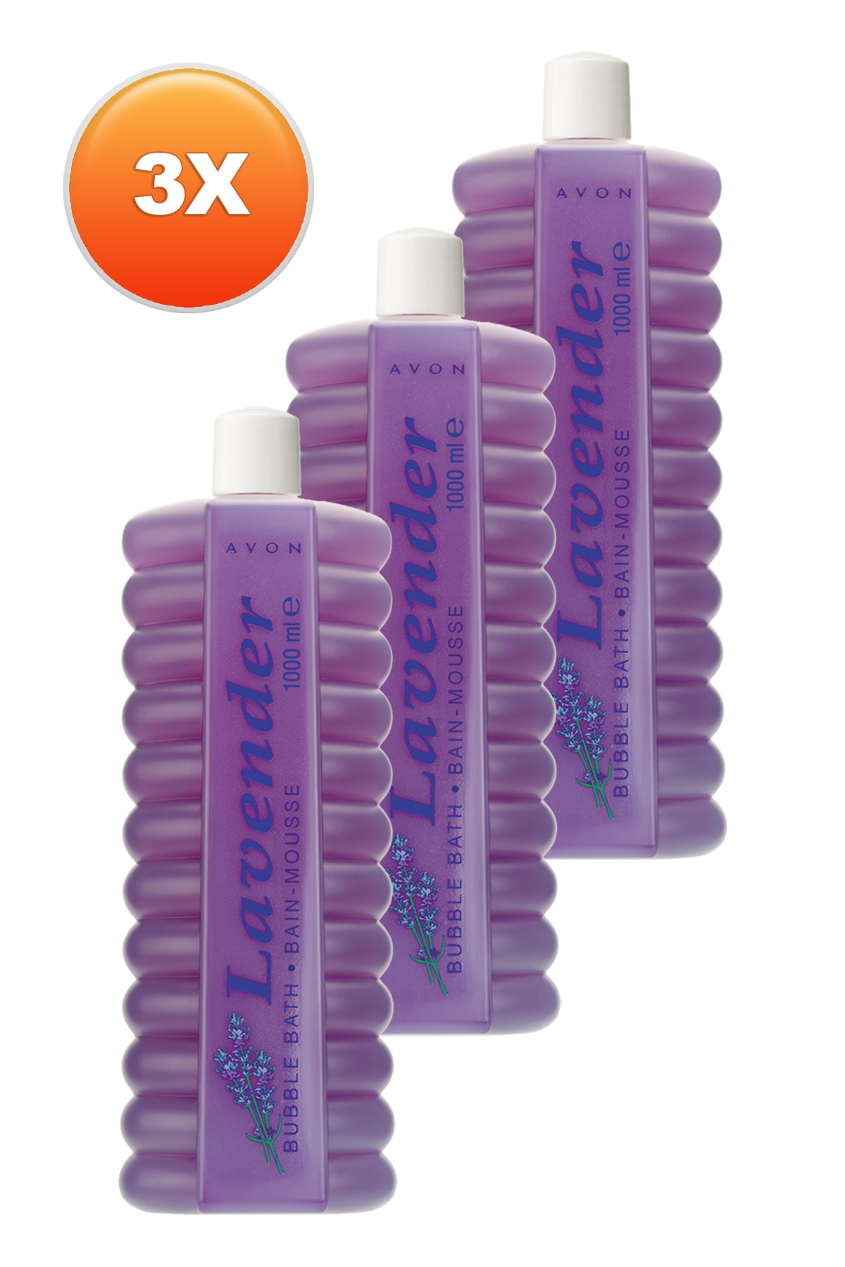 AVON Bubble Bath Lavantalı Banyo Köpüğü 1lt 3'lü Paket 1