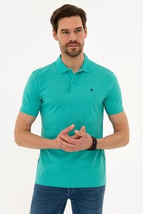 Pierre Cardin Erkek Mint Yeşil Slim Fit Polo Yaka T-Shirt