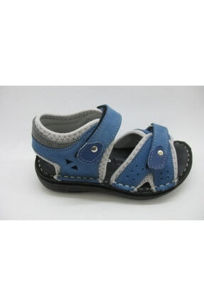 Toddler Erkek Çocuk Mavi Kot Deri Spor Sandalet 01314