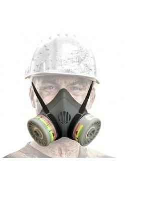Max Safety Max-safety Yym-set1 Çift Filtreli Yarım Yüz Gaz Maskesi (filtre Dahildir)