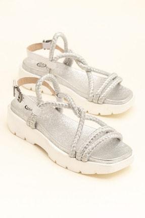 Elle Shoes AWENA Beyaz Kadın Sandalet