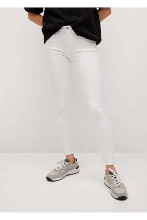 MANGO Woman Kadın Beyaz Elsa Orta Bel Skinny Jean Pantolon