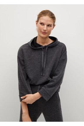 MANGO Woman Kırçıllı Geniş Kesim Sweatshirt