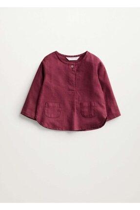 MANGO Baby Pamuk-keten Karışımlı Gömlek