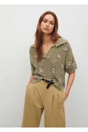 MANGO Woman Polo Yaka Tişört