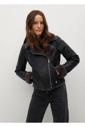 MANGO Woman Kadın Siyah Ceket