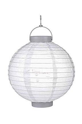 Pandoli 20 cm Led Işıklı Kağıt Japon Feneri Beyaz Renk