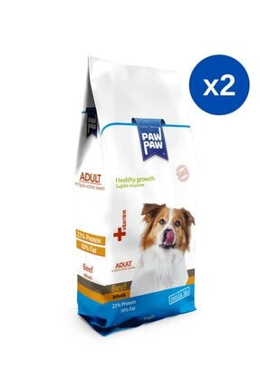 Paw Paw Biftekli Yetişkin Köpek Maması - 3 kg x 2 Adet